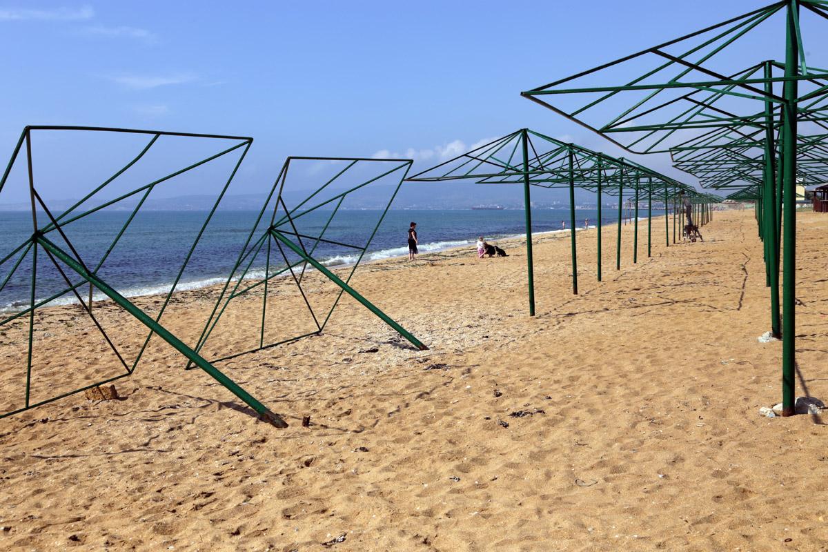 пляж, Крым, Береговое